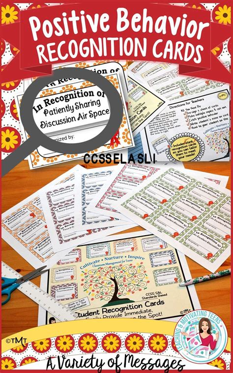 Catch and recognize the positive classroom behaviors and ...