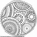 Pages Circle Coloring Colouring Mandala Patterns Getcoloringpages Tag March sketch template