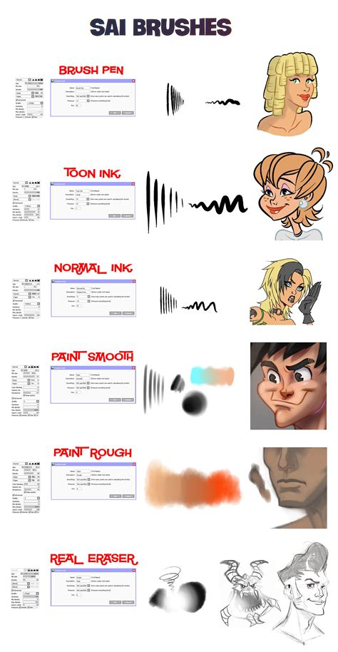 sai brushes by sinistar1 deviantart on deviantart