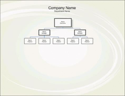 organogram template  word templates