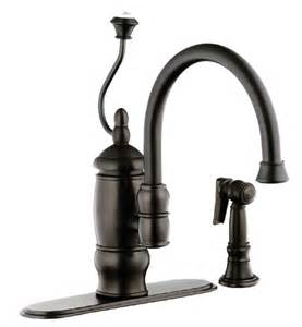 kitchen faucet rubbed bronze bfn141 03orb foret single handle kitchen faucet with matching sidespray rubbed bronze