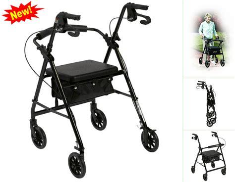 chair wheel trolley elderly cart seat walker basket