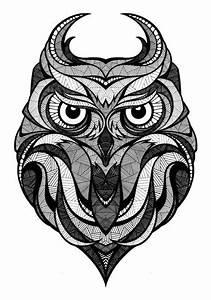 Owl illustration, black and white   Inspiration ...