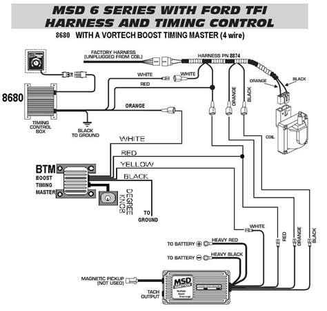 Soleniod Diagram With Msd 6al Wiring Ford by 6 Series Timing Tfi Harness 86801 With A Vortech
