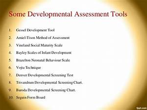 Denver Developmental Screening Chart Developmental Assessment