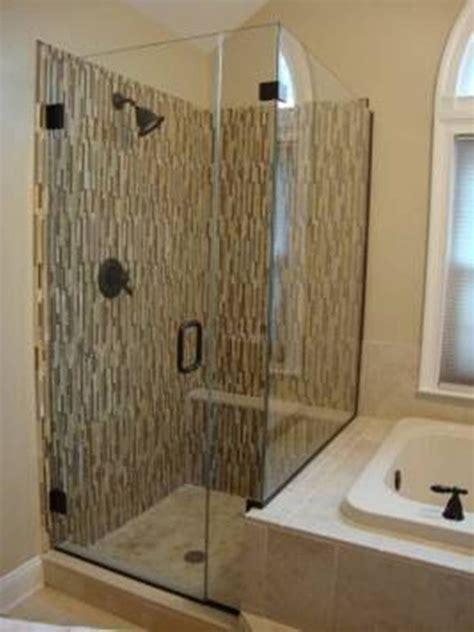 frameless corner shower stalls  small bathrooms