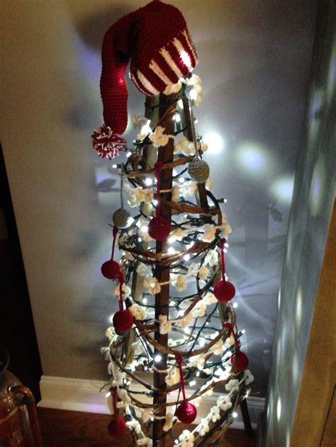 tobacco stick christmas tree  crochet ornaments