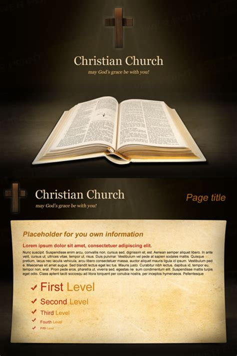 christian church  powerpoint template