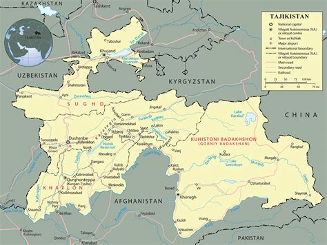 map of tajikistan - Map Pictures