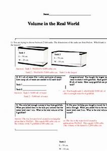 Volume Worksheet Real World Math Problems. Volume. Best ...