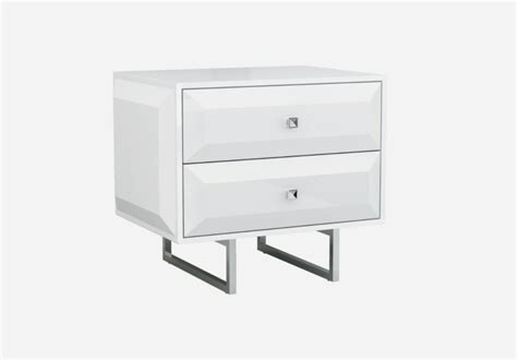 Contemporary White Nightstands by Colombo Modern Nightstands Contemporary Nightstands