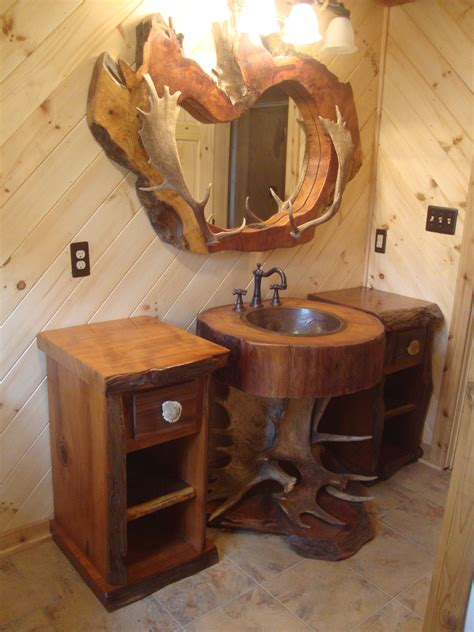half bathroom decor ideas rustic bathrooms decors views with teak root