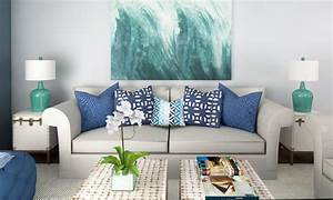 Beach decor 3 online interior designer rooms decorilla for Beach decor living room