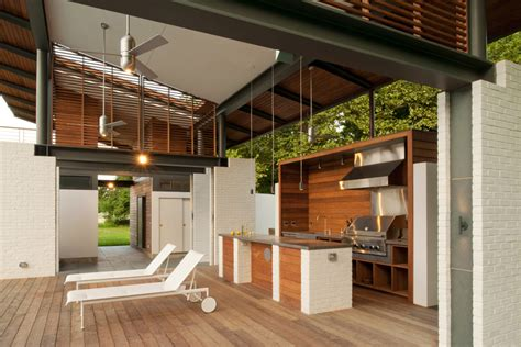 contemporary outdoor kitchens outdoor kitchen by mcinturff architects 2541