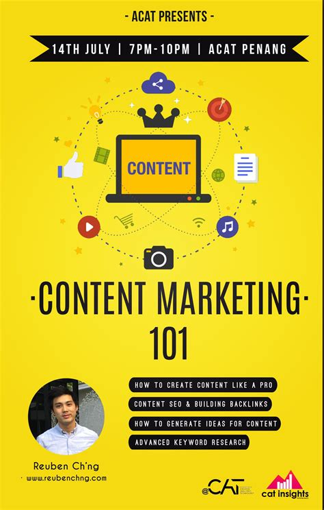 Content Marketing Course by Event Content Marketing 101 Course At Acat Penang Rc S