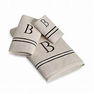 avanti monogram block letter bath towel collection in With bath towels with letters