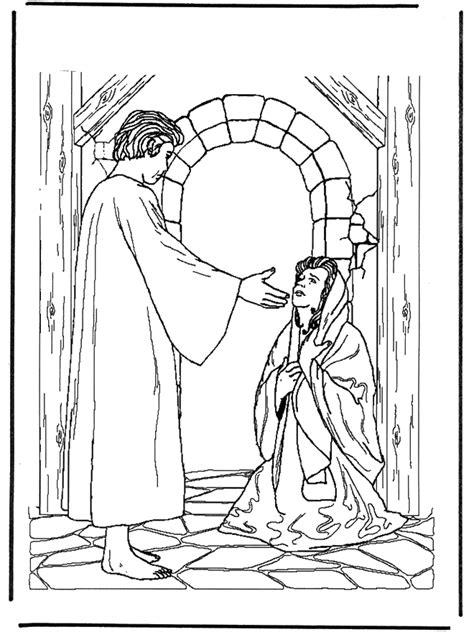 jesus und die kranke frau malvorlagen neues testament
