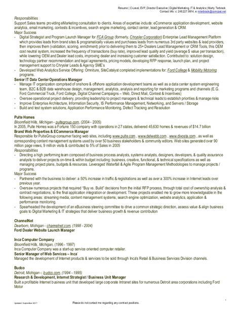 resume c level evp director executive digital
