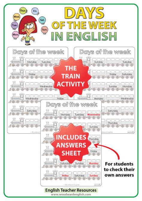 english days   week bundle  esl activities