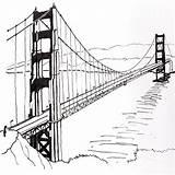 Bridge Drawing Golden Sketch Line Suspension Drawings Gate Francisco San Simple Draw Swinging Brooklyn Sketches Stay Clip Getdrawings Paintingvalley State sketch template