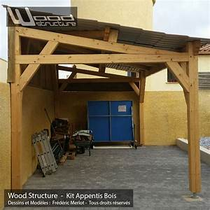 Appentis 1 pan l wood structure for Faire un plan maison 6 appentis 1 pan l wood structure