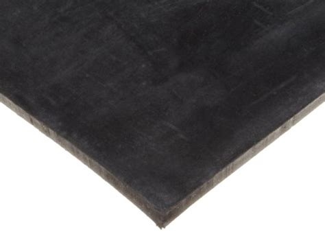 high strength neoprene rubber sheet adhesive backed 50a durometer smooth black 1 32 quot thick
