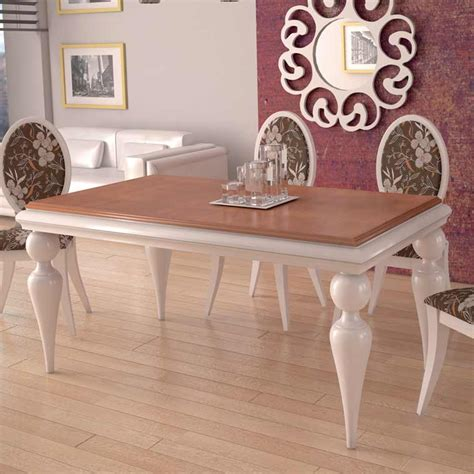 mesa de comedor bola fija  extensible de patas torneadas