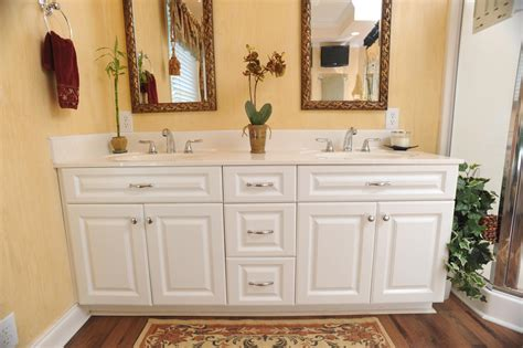 bathroom remodel white cabinets yellow interior cabinets