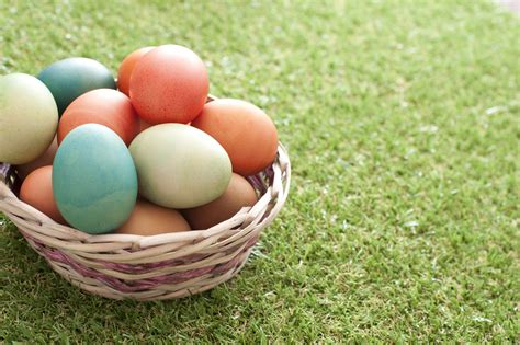 Free Stock Photo 13454 Basket Of Traditional Easter Eggs