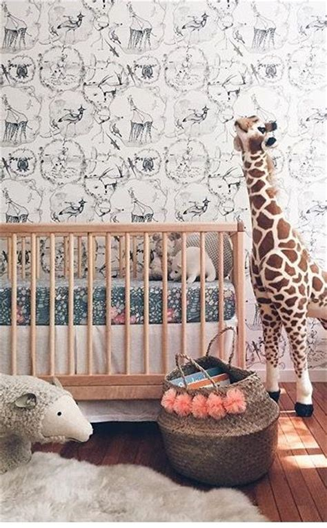 animal wallpaper ideas  pinterest boys nursery wallpaper kids room wallpaper