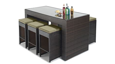 set de bureau design set d 39 extérieur design 6 tabourets table haute dayton