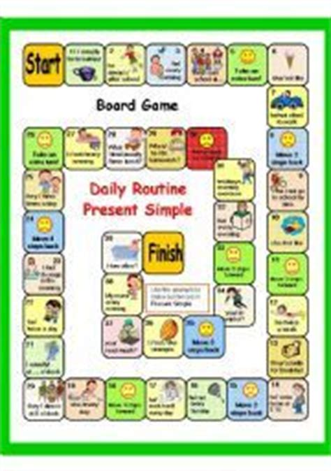 english worksheet present simple daily routine part