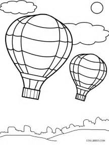 Hot Air Balloon Coloring Page Printable
