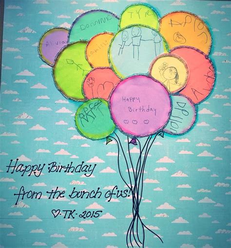 class project  teacher birthday gift  child