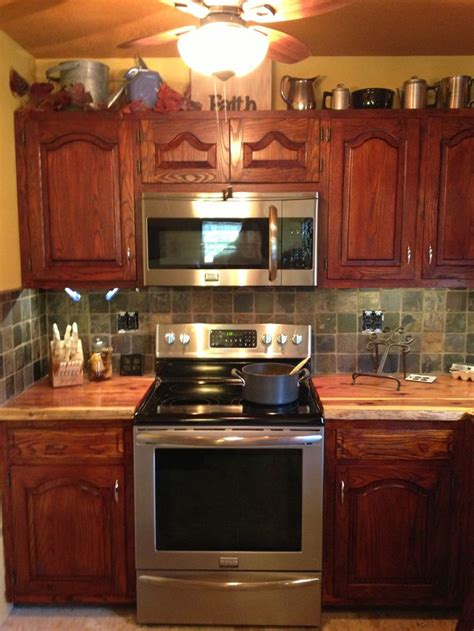 love love   red cedar countertops kitchen colour
