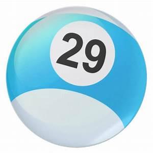 Number 29 Billiards Ball Plate | Zazzle