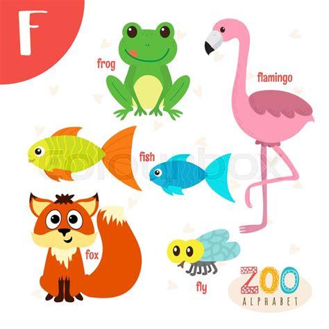 animals that start with the letter f dyr komisk vektor stock vektor colourbox 20456 | 21083082