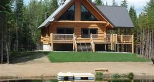 au chalet en bois rond 3 et 4 etoiles tourisme portneuf With kit de maison en bois rond