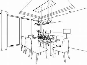 dining room clipart black and white 1 | Clipart Station