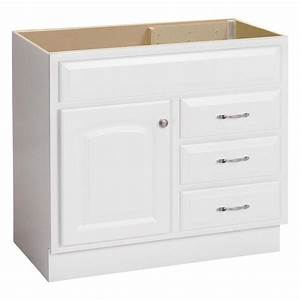Shop project source white bathroom vanity common 36 in x for White vanity cabinets for bathrooms