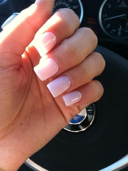 pretty nails toes   light pink acrylic nails