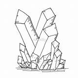 Cluster Crystal Drawing Coloring Template Sketch sketch template