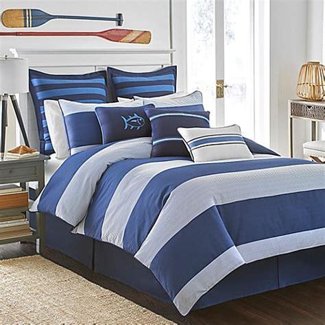 white blue bedding southern tide 174 dock stripe reversible comforter set 4614