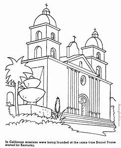 California missions history coloring pages for kids 033