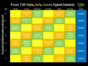 Alpha Beta Focus T25 Gamma Hybrid Schedule