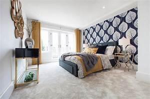 Schlafzimmer Wand Hinter Dem Bett : attraktive wandgestaltung hinter dem bett ~ Eleganceandgraceweddings.com Haus und Dekorationen