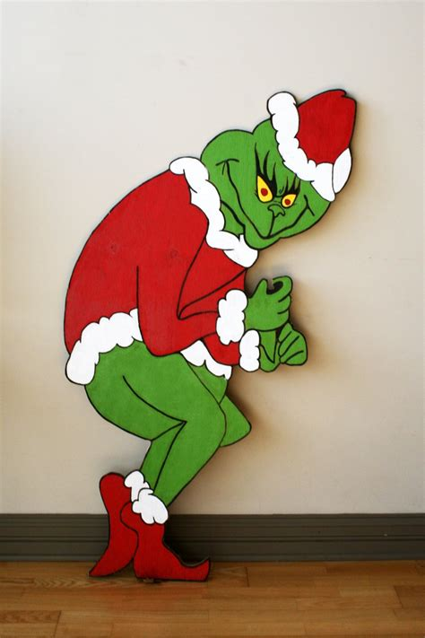 grinch stealing lights grinch yard outdoor decorations