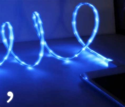 light up iphone charger iphone 5 6 led light up charging cable