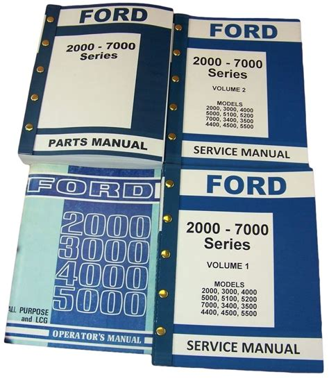 lot ford   series tractor service repair operators