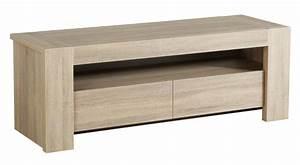 Meuble Hifi Bois : meuble tv mathis chene brut ~ Voncanada.com Idées de Décoration